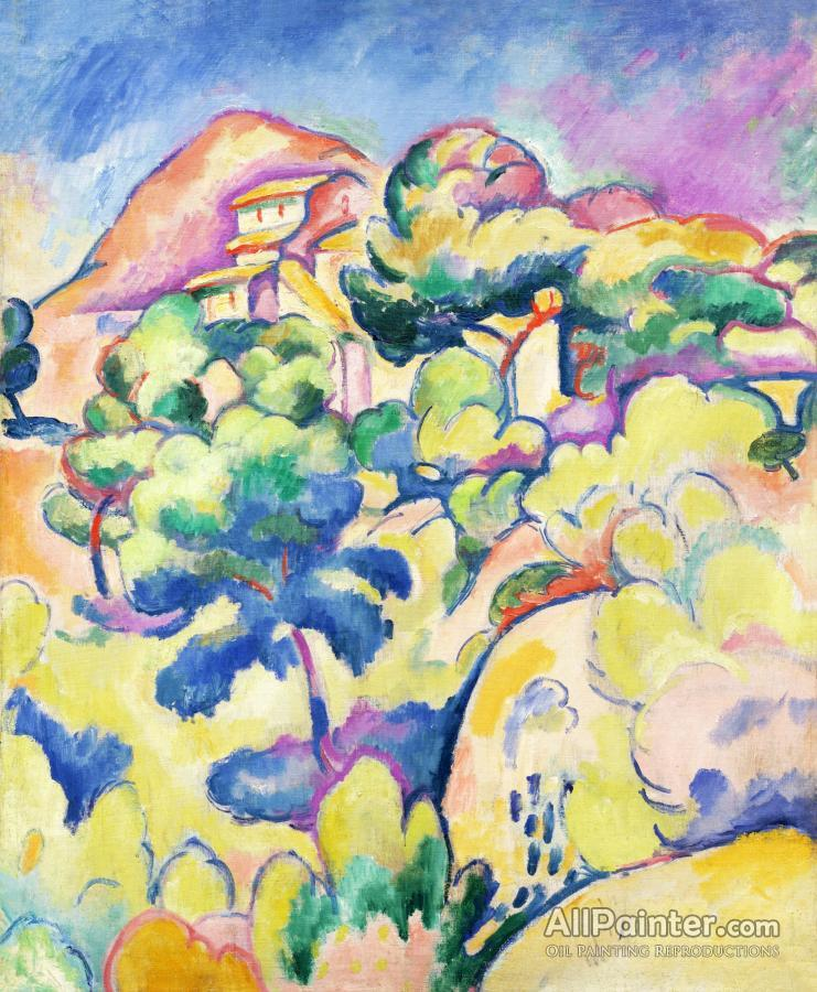 Georges Braque paintings for sale:Landscape At La Ciotat, 1907