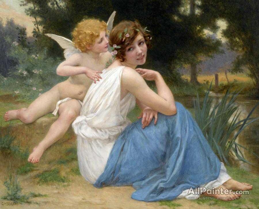 guillaume seignac cupid and psyche oil painting reproductions for