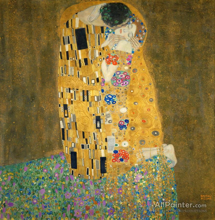 Gustav Klimt The Kiss Oil Painting Reproductions For Sale