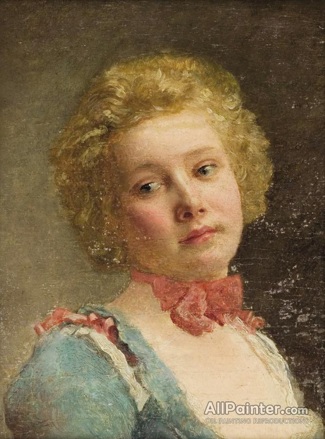 Gustave Jean Jacquet Portrait Of A Young Girl Oil Painting ...