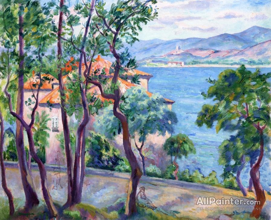 Henri Manguin paintings for sale:Above The Oustalet: View Over Grimand