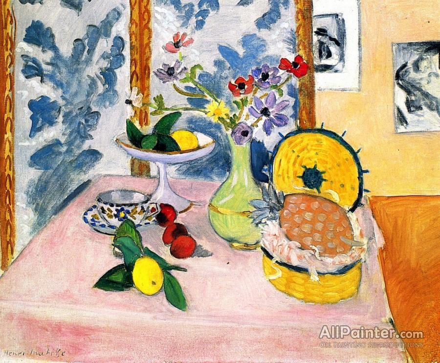 Henri Matisse Still Life Pineapples Fruit Bowl Fruit Vase Of