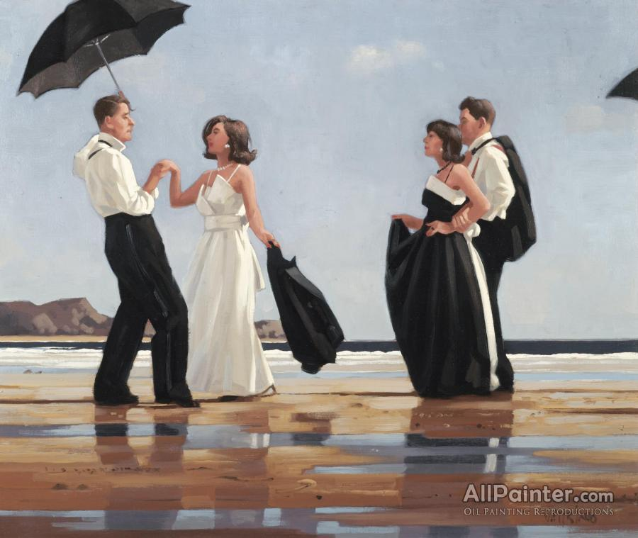 Jack Vettriano paintings for sale:The Black And White Ball