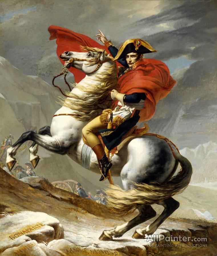 Jacques Louis David paintings for sale:Napoleon Crossing The Alps