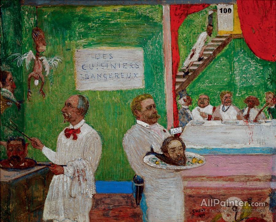 James Ensor paintings for sale:Dangerous Cooks