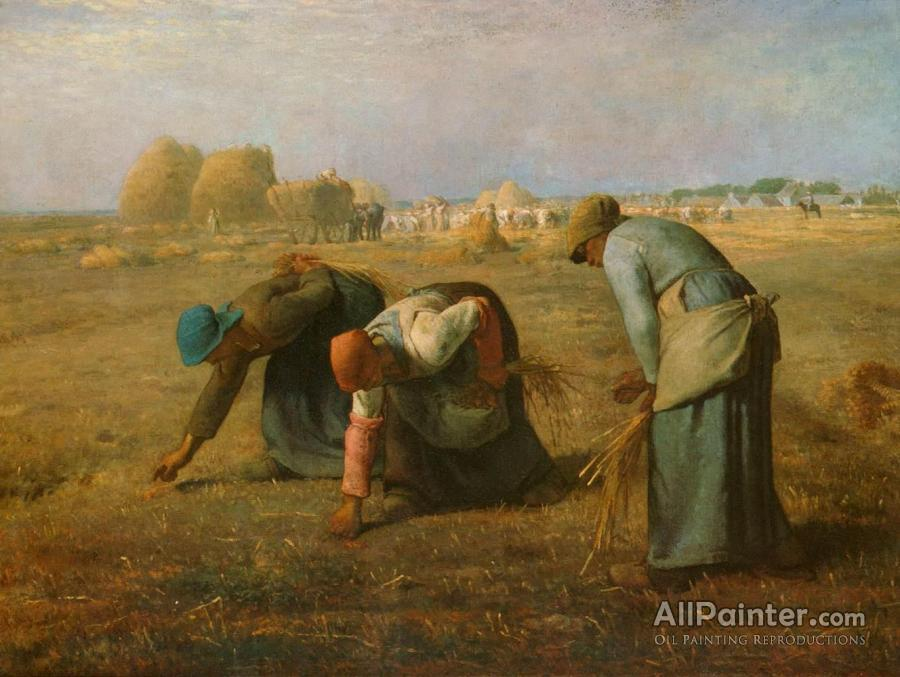 Jean Francois Millet paintings for sale:The Gleaners