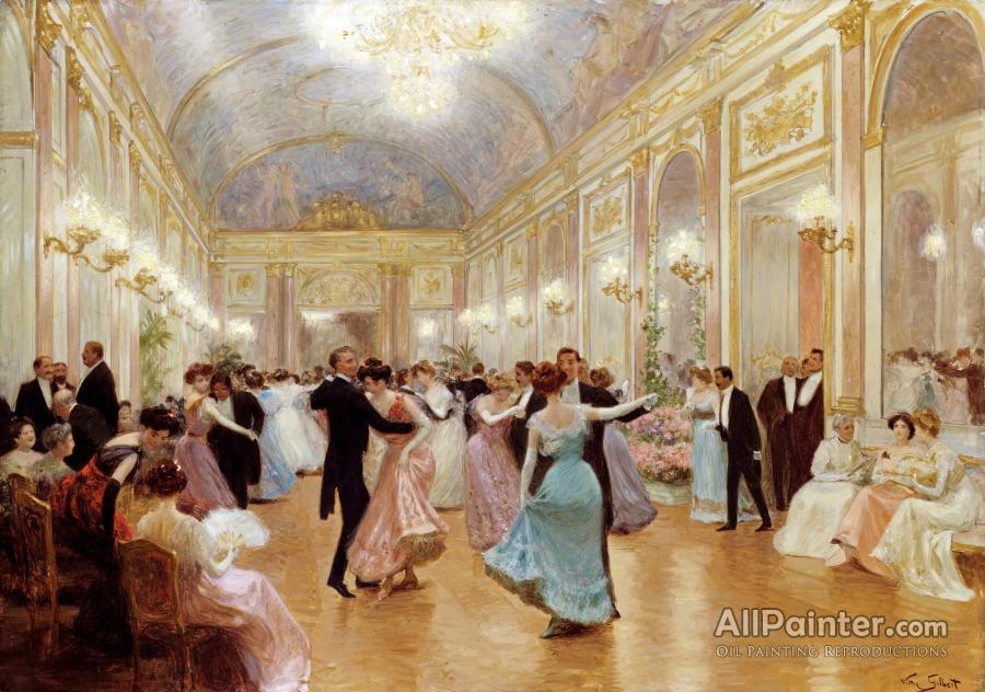 Jean Georges Beraud paintings for sale:Elegant Soiree