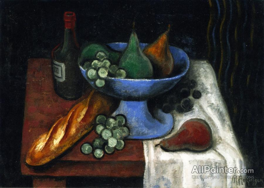 Jean Metzinger Still Life With A Blue Fruit Bowl Oil Painting