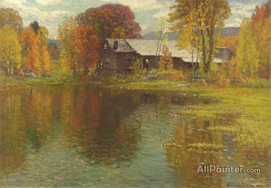 John Joseph Enneking Old Mill North Sutton New Hampshire