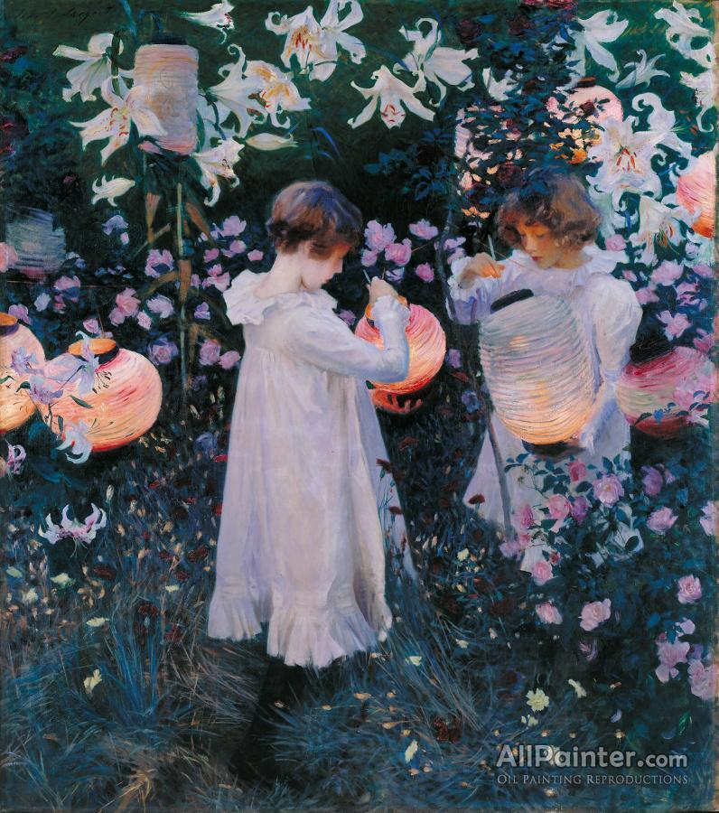 John Singer Sargent paintings for sale:Carnation, Lily, Lily, Rose