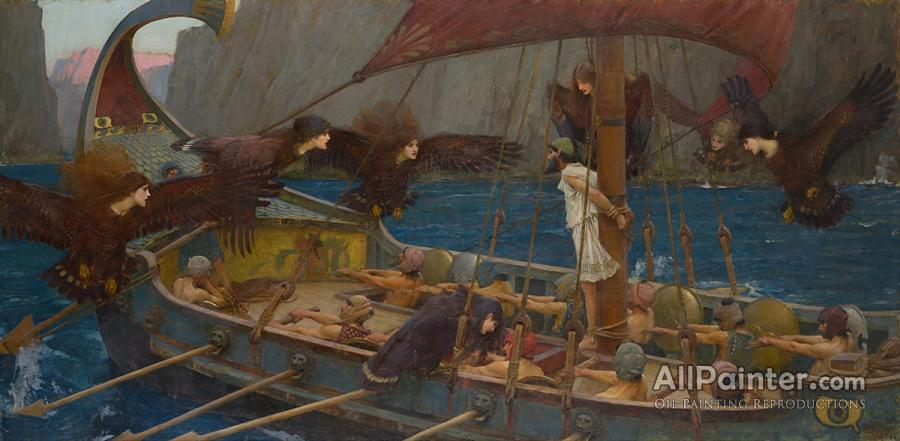 John William Waterhouse paintings for sale:Ulysses And The Sirens