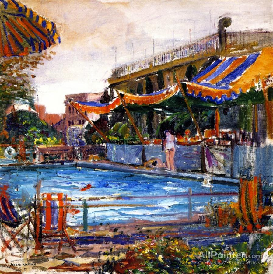 Art Painting A Swimming Pool