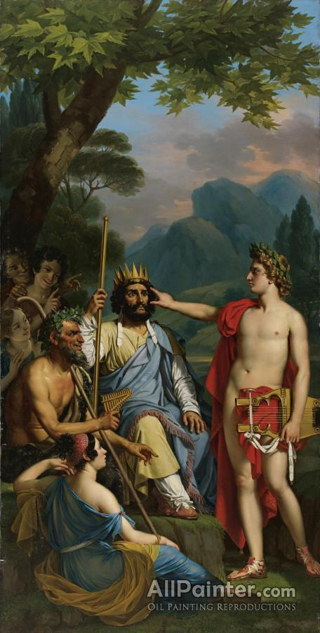 Joseph Paelinck paintings for sale:Apollo Punishes Midas For His False Judgement By Condemning Him To Sport An Ass's Ears