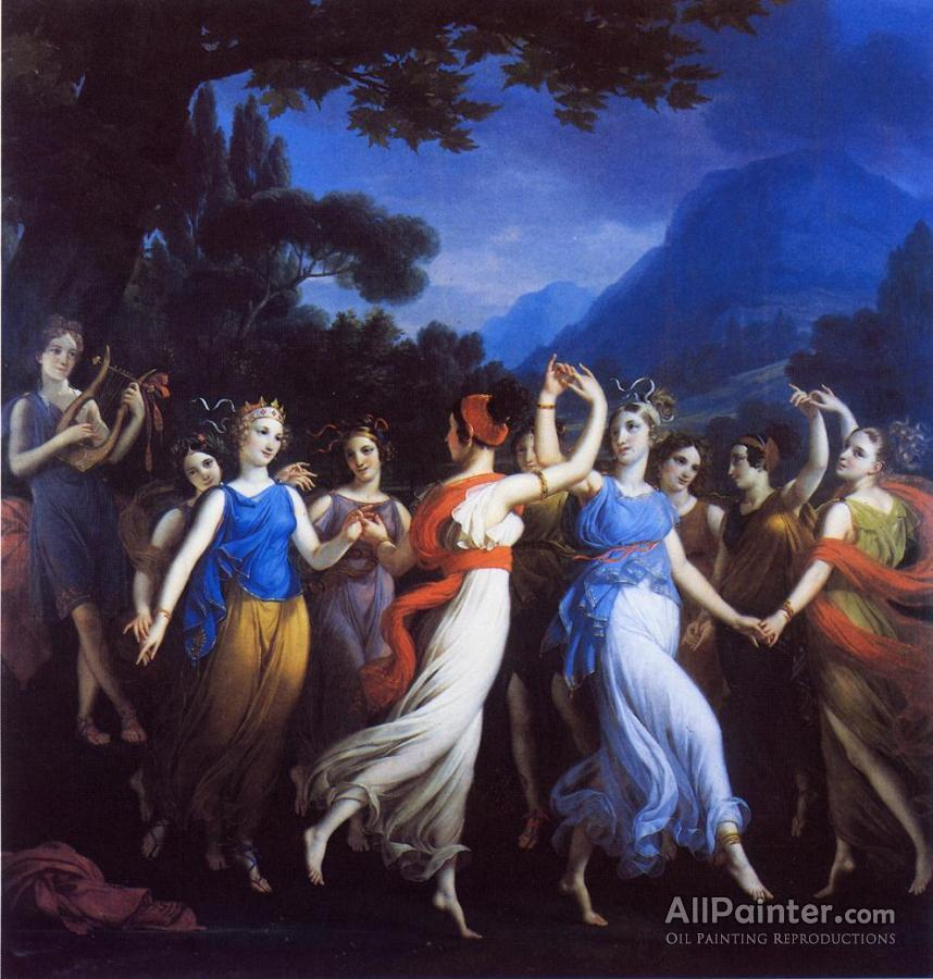 Joseph Paelinck paintings for sale:The Dance Of The Muses