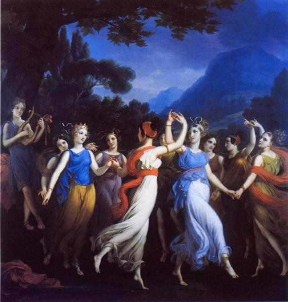 The Dance Of The Muses by Joseph Paelinck Oil Painting Reproductions
