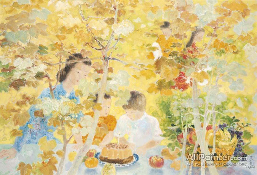 Terrific Le Pho The Birthday Cake Le Gateau Danniversaire Oil Painting Funny Birthday Cards Online Hendilapandamsfinfo
