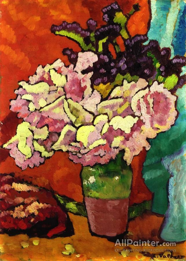 Louis Valtat Bouquet Of Flowers On An Orange Background Oil Painting ...