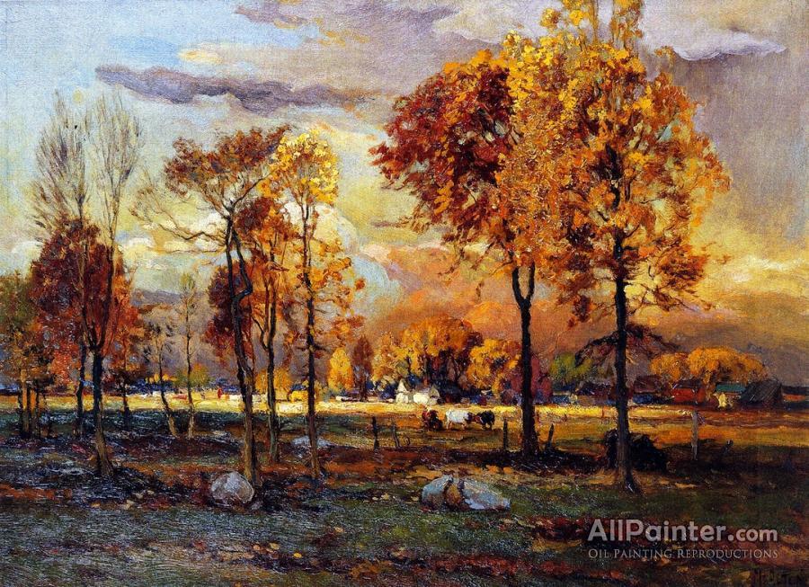 Mathias Joseph Alten paintings for sale:Farm Scene, Jenison, Michigan