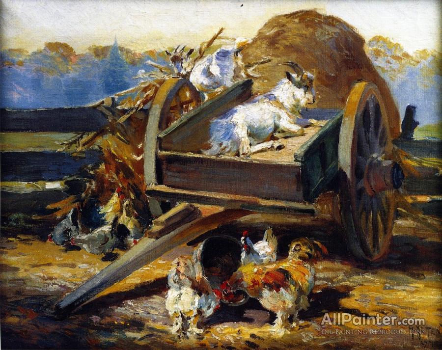 Mathias Joseph Alten paintings for sale:Farm Yard