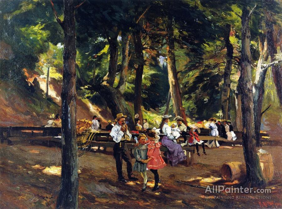 Mathias Joseph Alten paintings for sale:Picnic At Macatawa