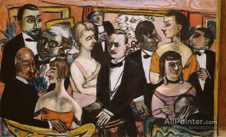 Max Beckmann paintings for sale:Party In Paris