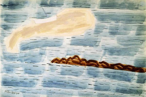 Sandspit And Jetty by Milton Avery Oil Painting Reproductions