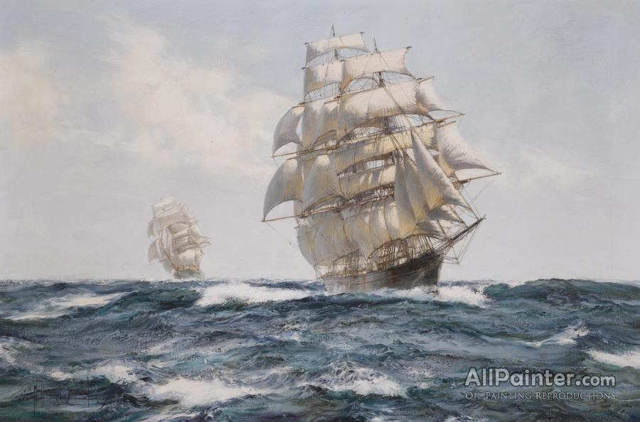 Montague Dawson paintings for sale:Deep Pacific, The Race Between Cutty Sark And Thermopylae