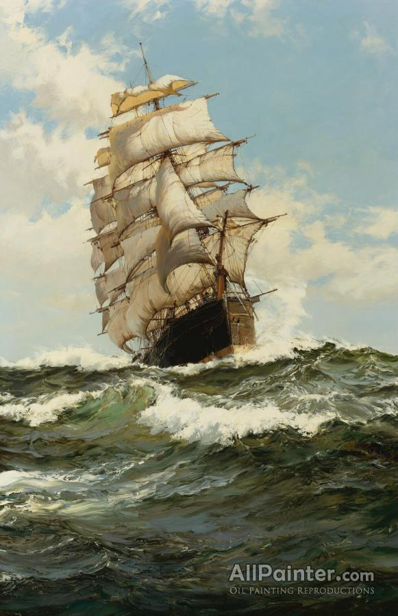 Montague Dawson paintings for sale:The Oberon