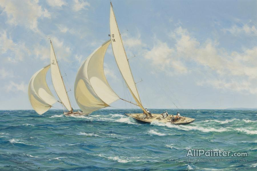 Montague Dawson paintings for sale:The Sporting Contest