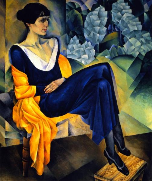 Anna Akhmatova by Nathan Altman Oil Painting Reproductions