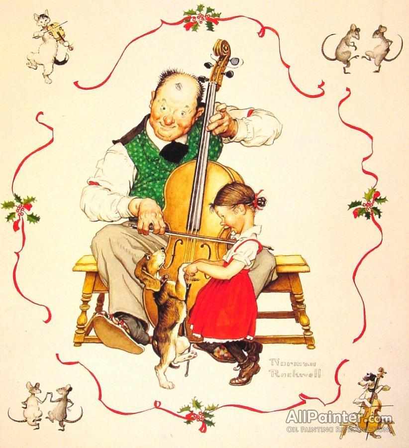Norman Rockwell Christmas Dance Oil Painting Reproductions for sale ...