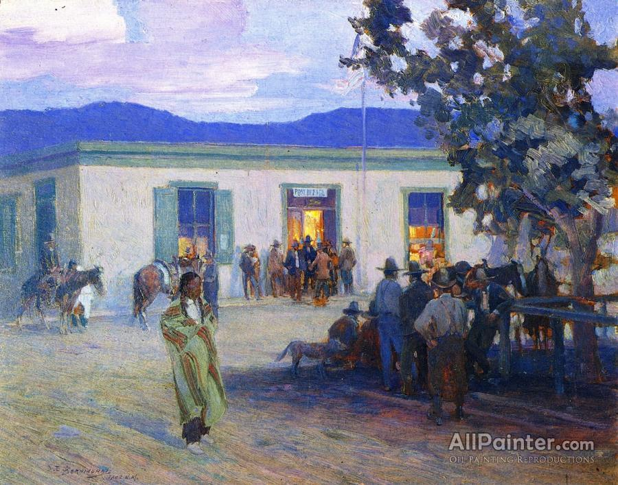 Oscar E Berninghaus Paintings For Post Office Taos New Mexico