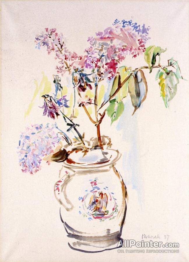 Oskar Kokoschka Flower Vase Oil Painting Reproductions For Sale