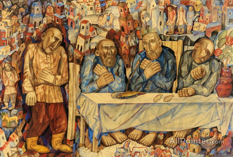 Pavel Filonov The Last Supper Oil Painting Reproductions For Sale