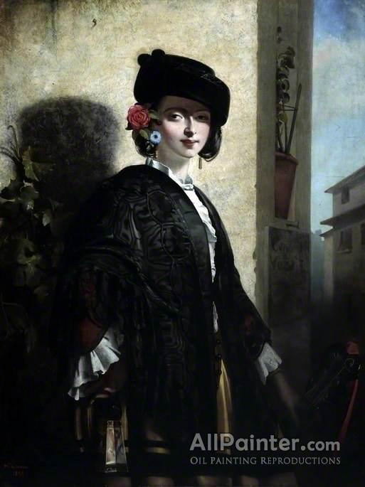 Philip Hermogenes Calderon paintings for sale:A Spanish Lady
