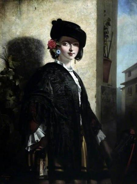 A Spanish Lady by Philip Hermogenes Calderon Oil Painting Reproductions