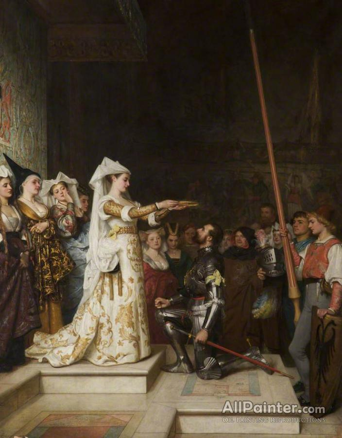Philip Hermogenes Calderon paintings for sale:The Queen Of The Tournament