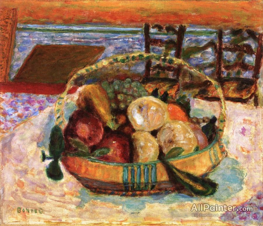 Pierre Bonnard paintings for sale:Basket Of Fruit In The Dining Room A Le Cannet