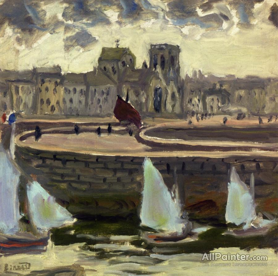 Pierre Bonnard paintings for sale:Boats In Port At Low Tide