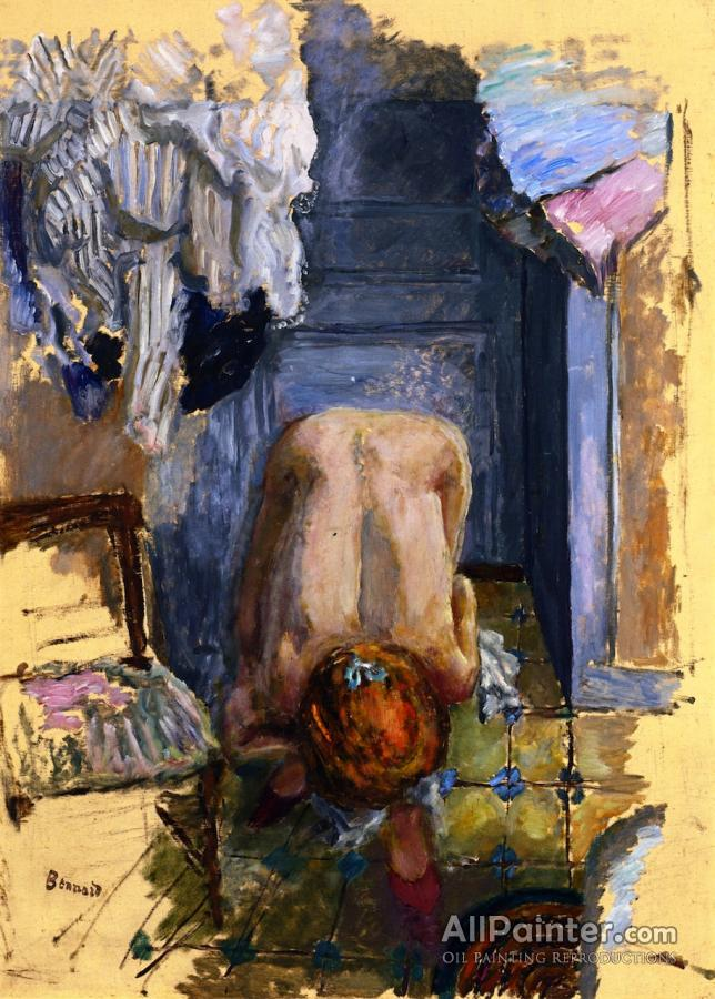 Pierre Bonnard paintings for sale:Crouching Nude Leaning Forward