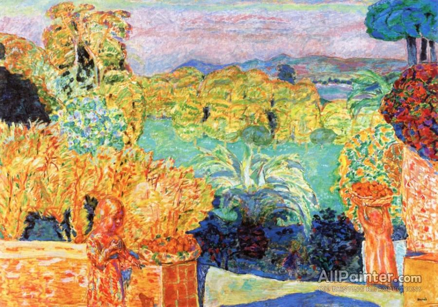 Pierre Bonnard paintings for sale:Landscape In The Midi With Two Children