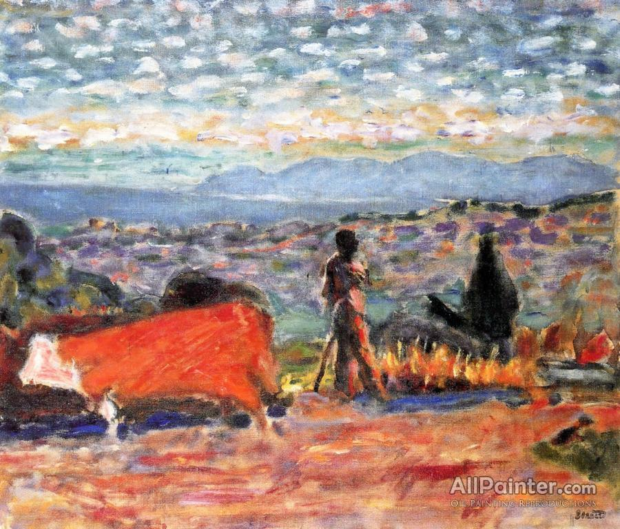 Pierre Bonnard paintings for sale:Red Cattle, Plowman