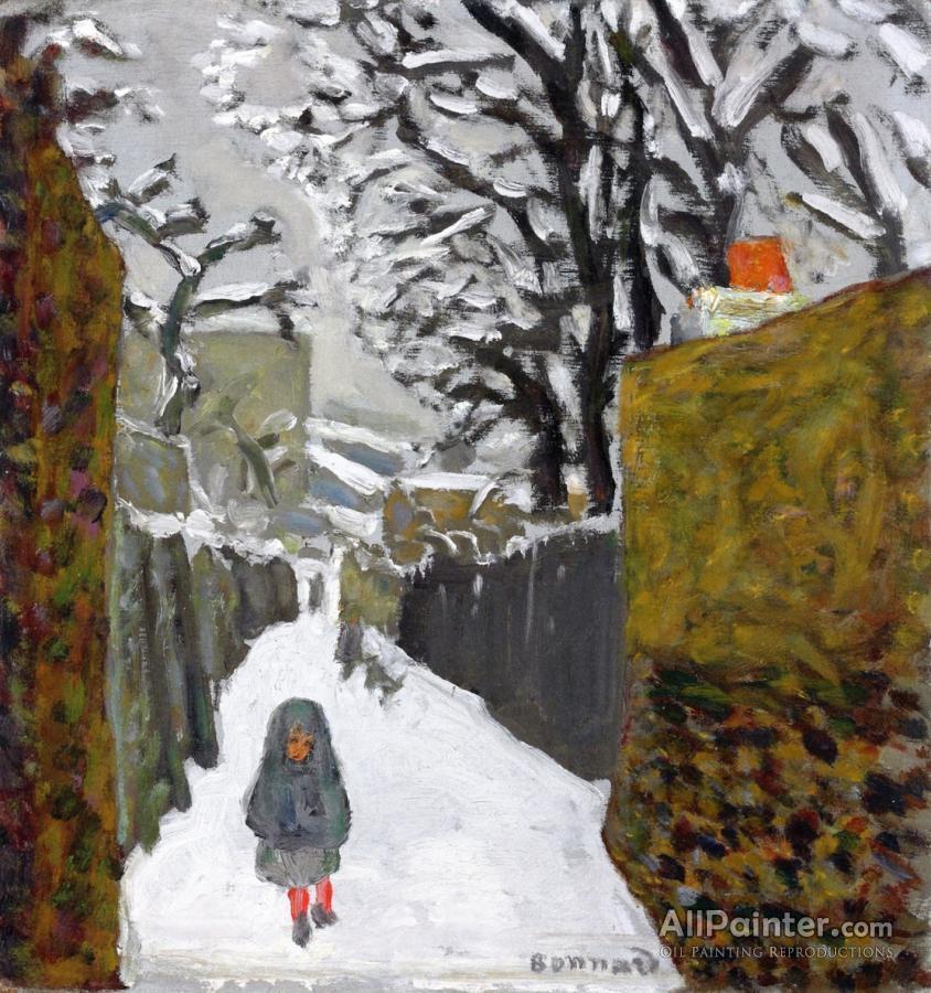 Pierre Bonnard paintings for sale:Snowy Landscape, Child In A Hood