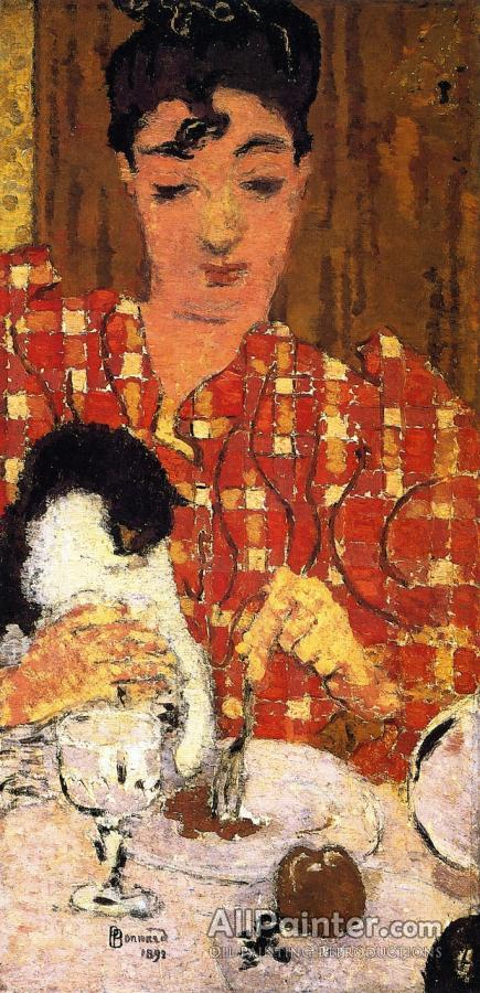 Pierre Bonnard paintings for sale:The Checkered Blouse