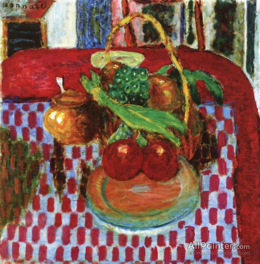 Pierre Bonnard paintings for sale:The Checkered Tablecloth