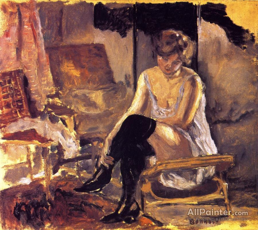 Pierre Bonnard paintings for sale:Young Woman Seated On A Chaise Lounge