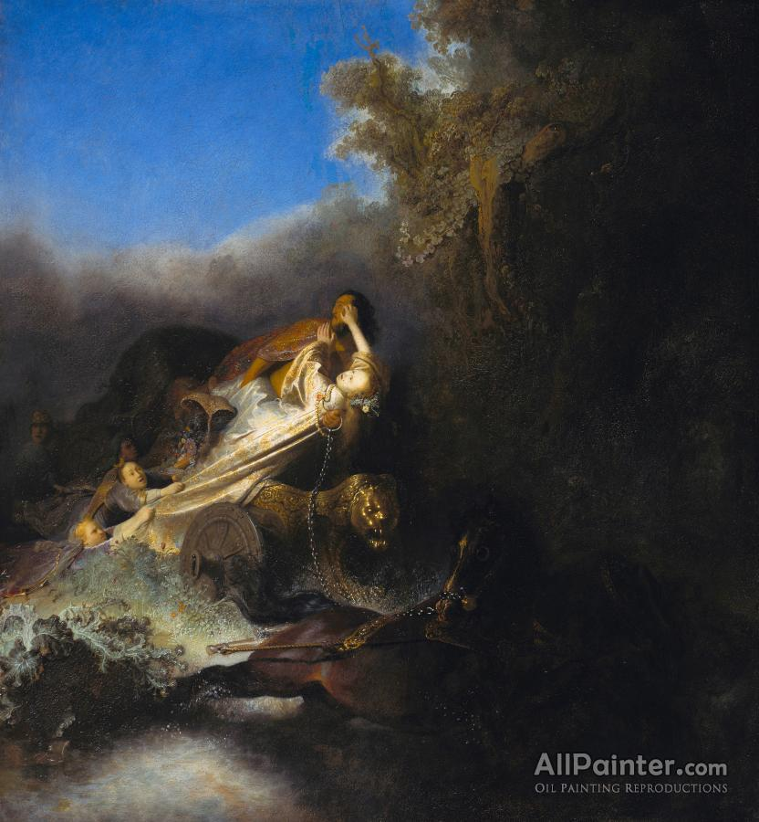 Rembrandt Van Rijn paintings for sale:The Abduction Of Proserpina