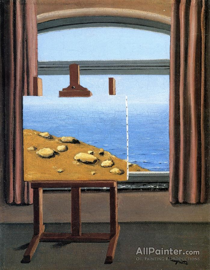 René Magritte La Condition Humaine Oil Painting Reproductions For