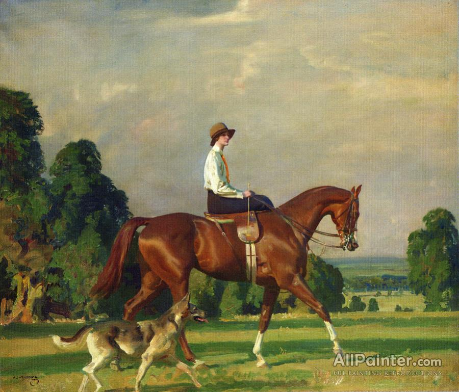 Sir Alfred James Munnings paintings for sale:Miss Ruth Brady On Bugle Call