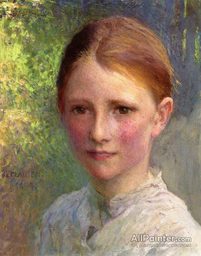 Sir George Clausen Study For Head Of A Girl (emmy Wright ... |Sir George Clausen Head Girls